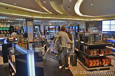 Duty free store Editorial Stock Photo