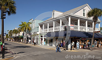 Duval St, Key West, Florida Editorial Stock Image