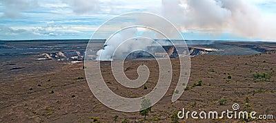 Duży Hawaii wyspy kilauea wulkan