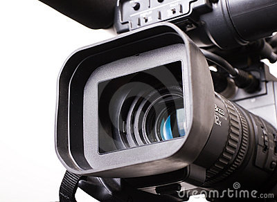 Dv-cam camcorder close-up