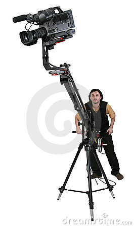 Free Dv-camcorder On Crane Royalty Free Stock Photography - 5448577