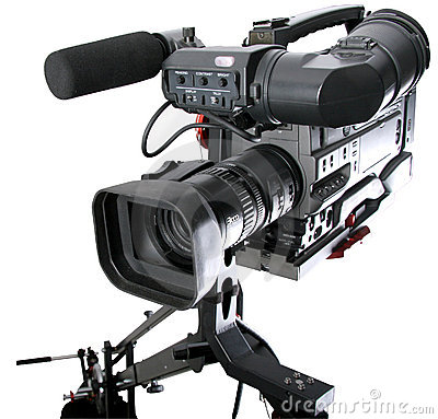 Free Dv-camcorder On Crane Stock Photography - 5448582