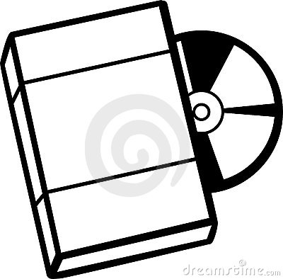 Dvd with box vector illustration