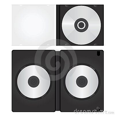 Dvd and cd box vector