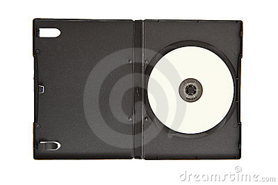 Dvd cd case with blank media
