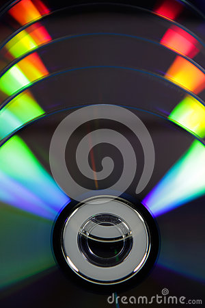 Dvd with colour light