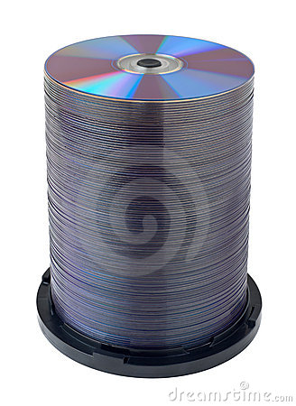 DVD compact disc stack