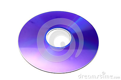 DVD Disc isolated on white background