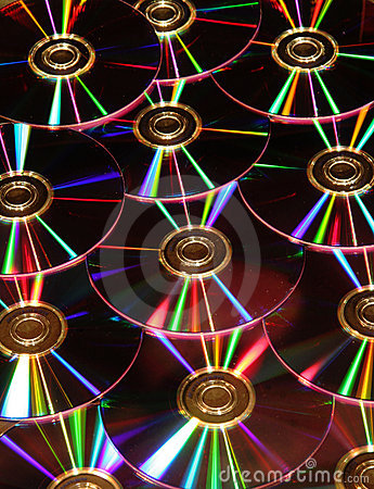 DVD disks reflections