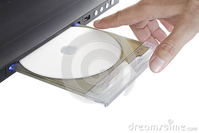 Dvd player with hand