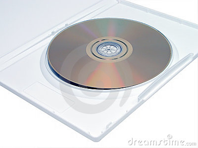 DVD in white case