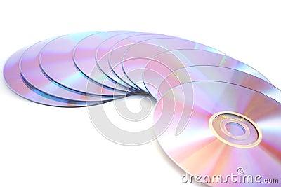 DVDs on white