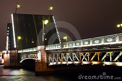 Dvortsoviy bridge in St. Petersburg