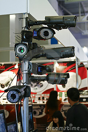 DVR, Cameras, video surveillance systems Editorial Photo