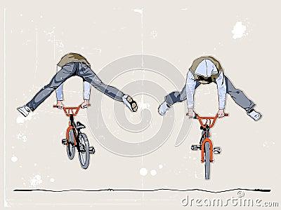 Dwa bicyclists
