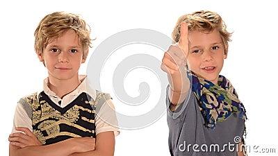 Dwa bliźniaczej chłopiec zdjęcie wideo