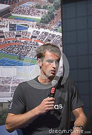 Dwa czasów wielkiego szlema mistrz Andy Murray przy Zdjęcie Editorial