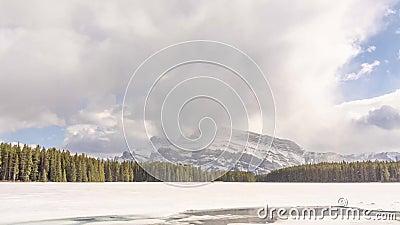 Dwa Jack Jeziorny Banff Alberta zbiory wideo