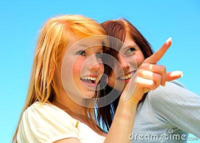Dwa młode nastolatki