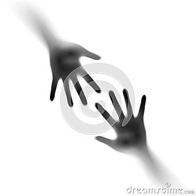 Dwa otwartej ręki