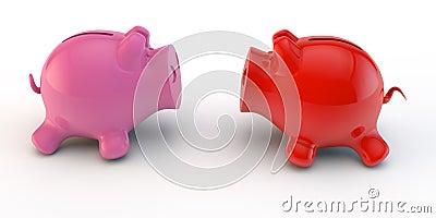 Dwa prosiątka bank