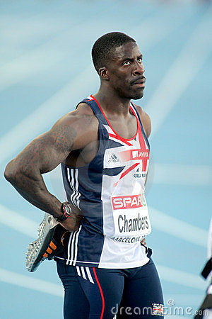 Dwain Chambers of Great Britain Editorial Stock Image