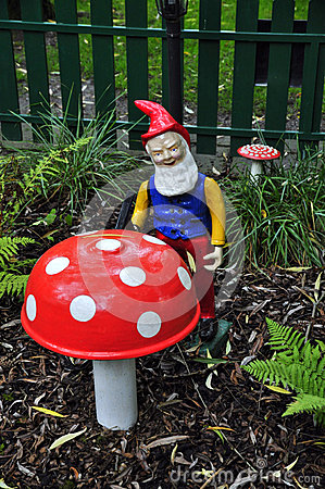Free Dwarf And Toadstool Stock Images - 44846014