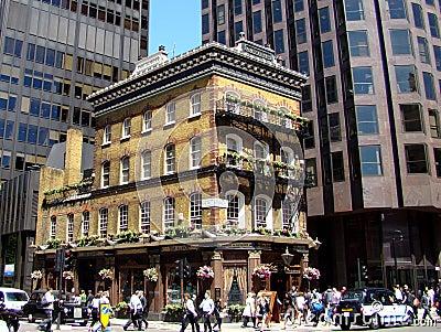 Dwarfed London Pub Editorial Image