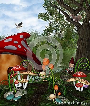 Free Dwarv Land Royalty Free Stock Photo - 18644645