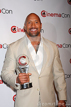 Dwayne Johnson arrives at the Paramount Studios Presentation at CinemaCom 2012 Editorial Photography