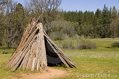 Dwelling of the Miwok tribe