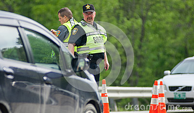 DWI Check Point Editorial Image