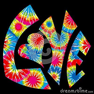Dyed love symbol tie