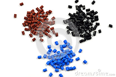 Dyed polymer pellets