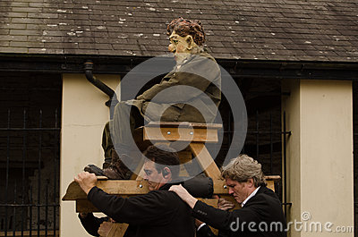 Dylan Thomas carried aloft Editorial Stock Photo
