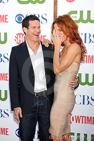 Dylan Walsh, Poppy Montgomery Editorial Photo