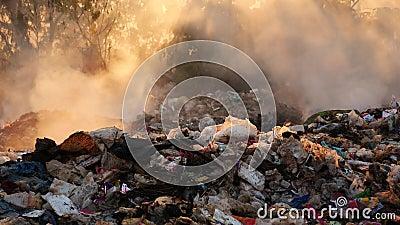 Dym powodować palić odpady zbiory wideo