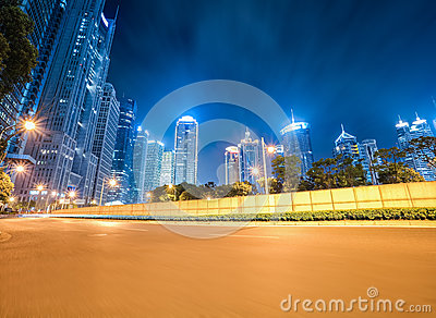 Dynamic background of modern city at night