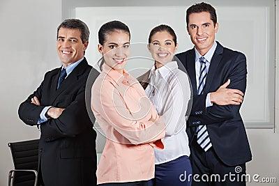 Dynamic busines team in office