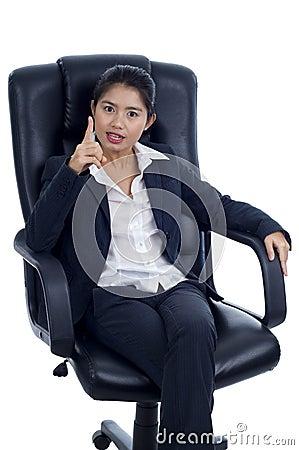 Dynamic businesswoman