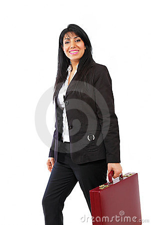 Dynamic businesswoman