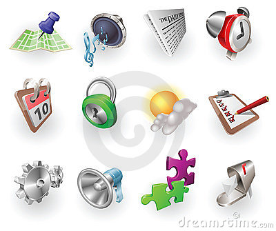 Dynamic Colour Web And Application Icon Set Stock Photography - Image: 14655552
