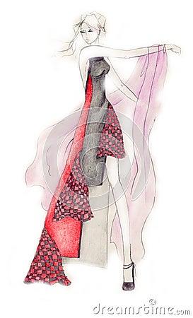Dynamic Fashion Illustration