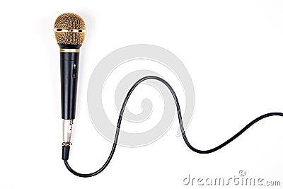 A dynamic microphone