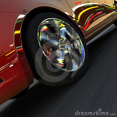 Dynamic racing car and the lights
