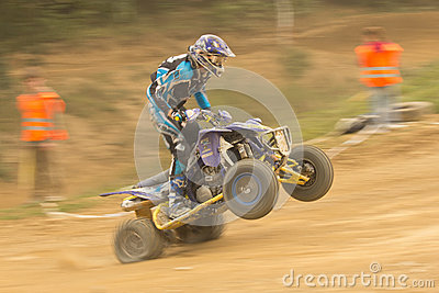 Dynamic shot of rider in the quad jump Editorial Image