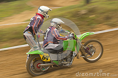 Dynamic shot of sidecar racers Editorial Image
