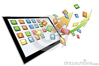 Dynamic Tablet computer illustration