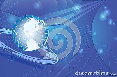 Dynamische de kaart van de wereld