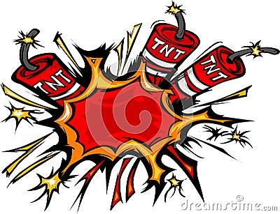 Dynamite Explosion Cartoon Illustration